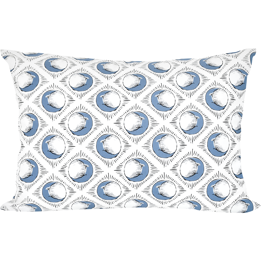 Sun & Blue Moon Pillowcase by Tool Press