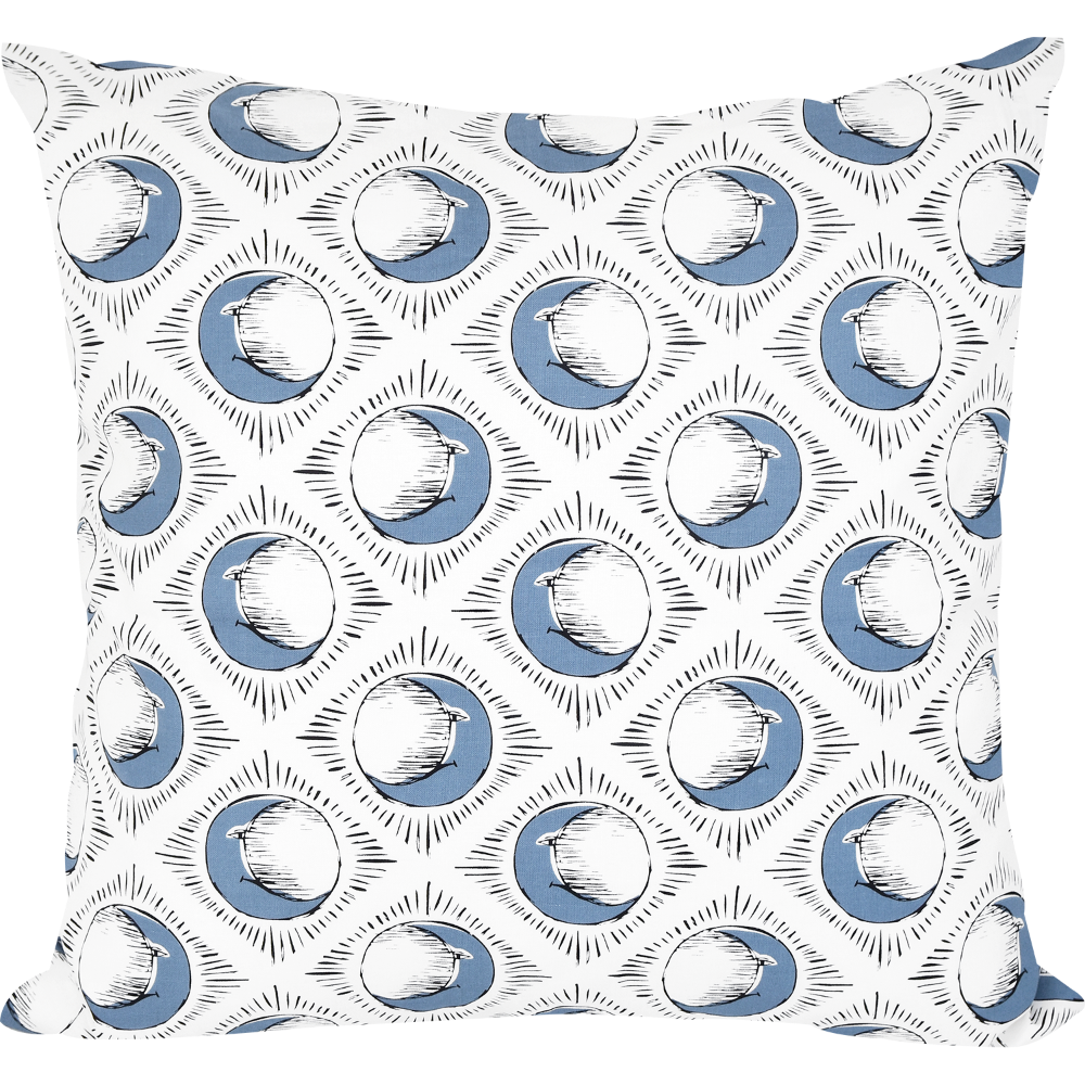 Sun & Blue Moon Cushion by Tool Press